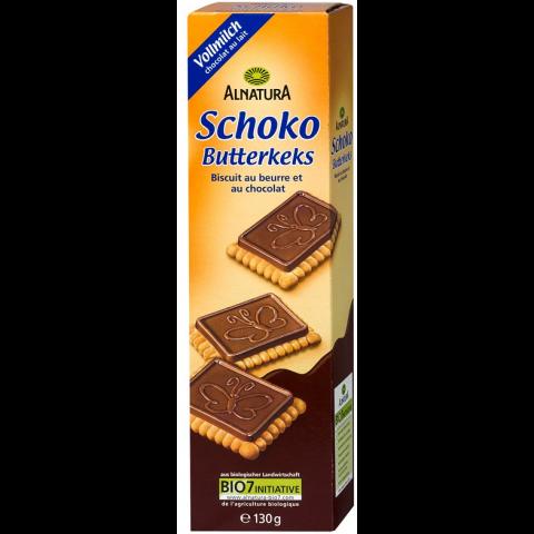 Alnatura Bio Schoko Butterkeks mit Vollmilchschokolade 130 g