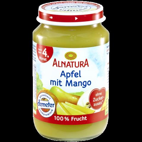 Alnatura Bio Apfel mit Mango nach dem 4. Monat 190 g