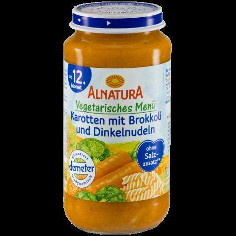 Alnatura Bio Karotten mit Brokkoli und Dinkelnudeln, ab 12. Monaten