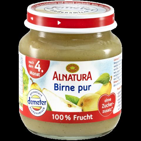Alnatura Bio Birne pur, nach dem 4. Monat