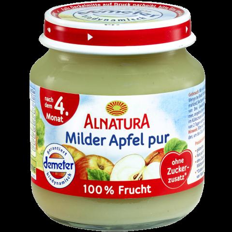 Alnatura Bio Milder Apfel pur, nach dem 4. Monat