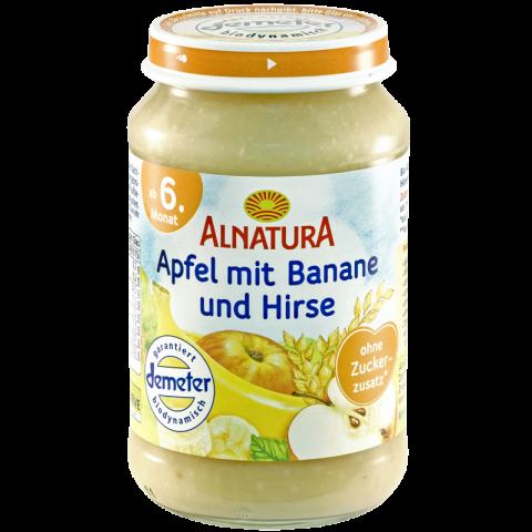 Alnatura Bio Apfel mit Banane und Hirse, ab dem 6. Monat