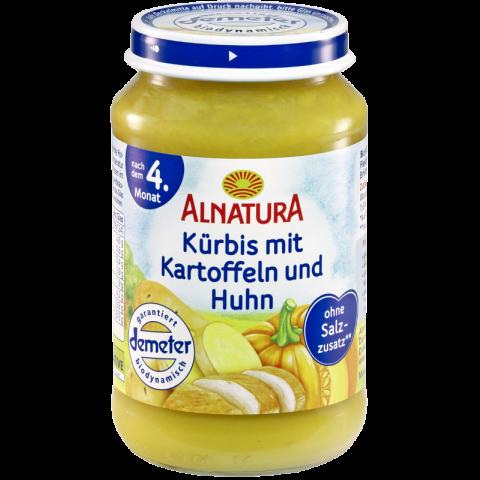 Alnatura Bio Kürbis mit Kartoffeln und Huhn, nach dem 4. Monat