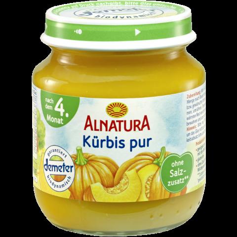 Alnatura Bio Kürbis pur, nach dem 4. Monat 125 g