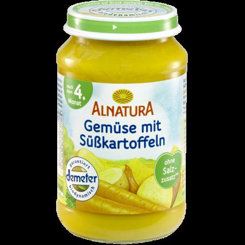 Alnatura Bio Gemüse mit Süßkartoffeln, nach dem 4. Monat 190 g