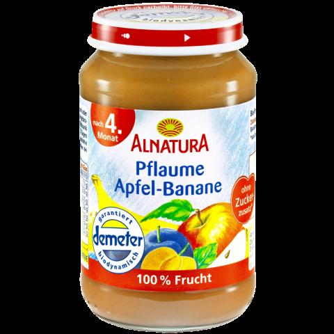 Alnatura Bio Pflaume Apfel-Banane, nach dem 4. Monat