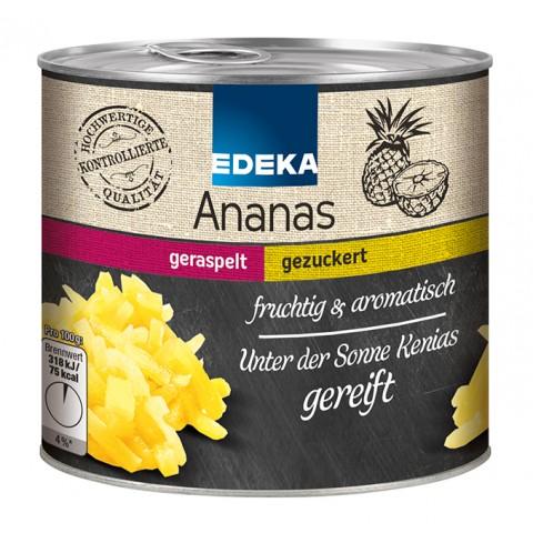 EDEKA Ananas geraspelt, gezuckert