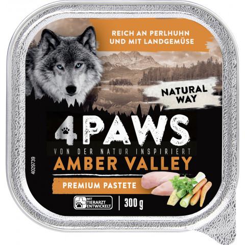 4 Paws Amber Valley Premium Pastete Perlhuhn & Landgemüse 300G
