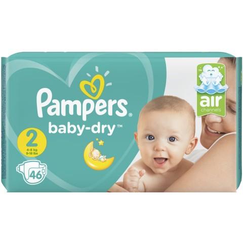 Pampers Baby-Dry Windeln Gr. 2 4-8 kg 46 Stück