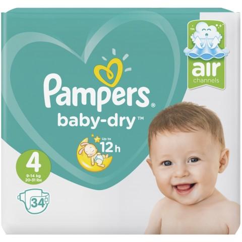 Pampers Baby-Dry Windeln Gr. 4 9-14kg