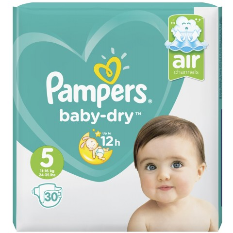 Pampers Baby-Dry Windeln Gr. 5 11-16kg 30 Stück