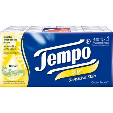 Tempo soft & sensitive Taschentücher für empfindliche Haut 12 x 9 Tücher