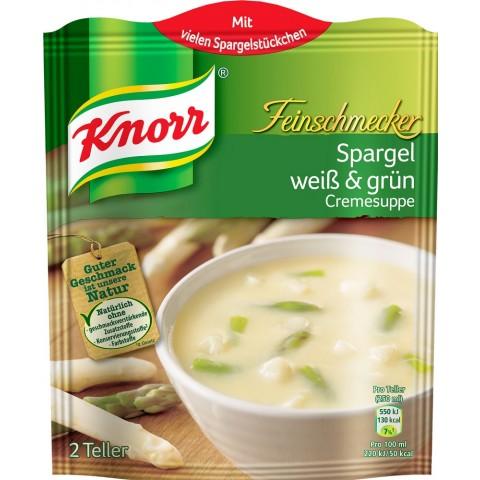 Knorr Feinschmecker Spargel weiß & grün Cremesuppe