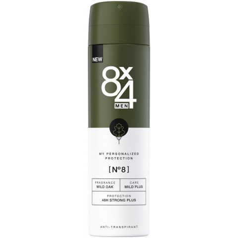 8x4 Deospray Nr.8 Wild Oak 150ML