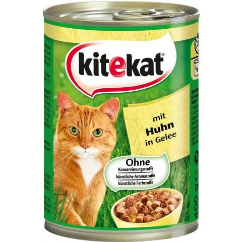 Kitekat mit Huhn in Gelee Katzenfutter nass 0,4 kg