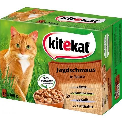 Kitekat Jagdschmaus in Sauce Katzenfutter nass Multipack