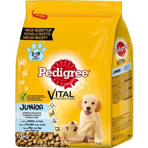 Pedigree Junior mit Huhn und Reis Hundefutter trocken