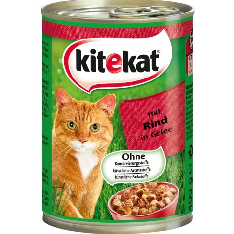 Kitekat mit Rind in Gelee Katzenfutter nass 0,4 kg