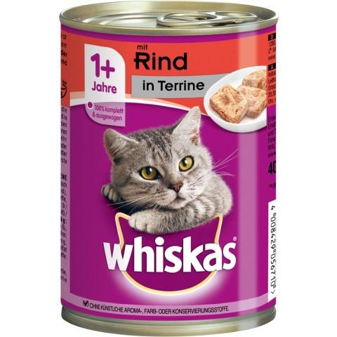 Whiskas 1+ mit Rind in Terrine Katzenfutter nass Dose