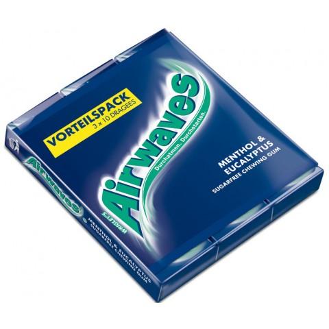 Wrigleys Airwaves Menthol & Eukalyptus 3x 10 Stück