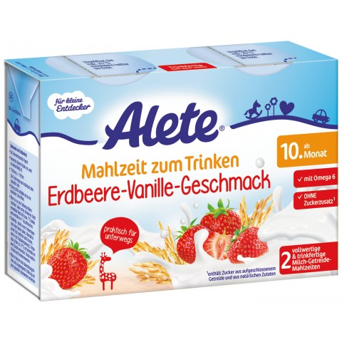 Alete Mahlzeit zum Trinken Erdbeere-Vanille-Geschmack ab dem 10. Monat