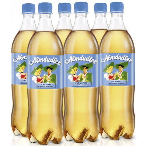 Almdudler Alpenkräuterlimonade zuckerfrei in PET Sixpack