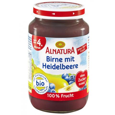 Alnatura Bio Birne mit Heidelbeere nach dem 4. Monat 190 g