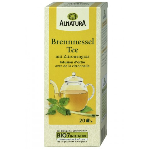 Alnatura Bio Brennnessel Tee mit Zitronengras 20x 1,5 g