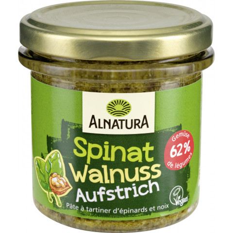 Alnatura Bio Brotaufstrich Spinat Walnuss 135 g