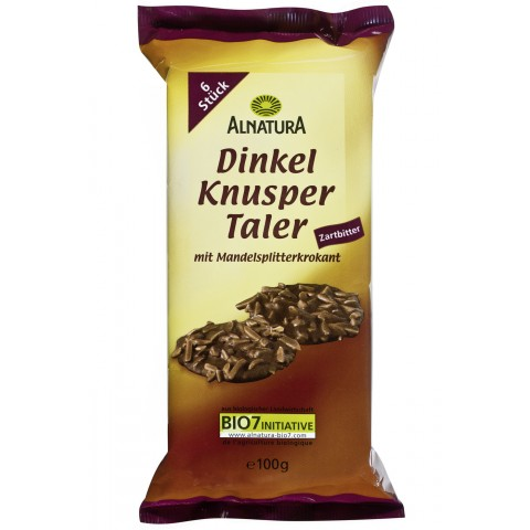 Alnatura Bio Dinkel Knusper Taler Zartbitter