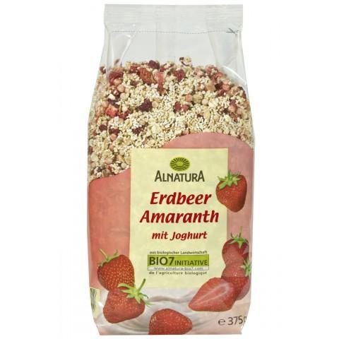 Alnatura Bio Erdbeer Amaranth Müsli mit Joghurt
