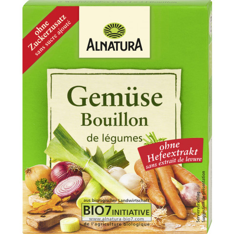 Alnatura Bio Gemüse Bouillon ohne Zusatz von Hefe 6x 11G