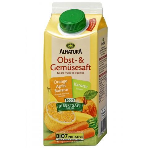 Alnatura Bio Obst- & Gemüsesaft Orange-Apfel-Banane-Karotte