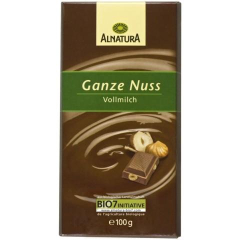Alnatura Bio Ganze Nuss Vollmilch Schokolade