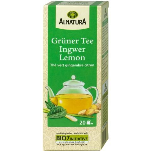 Alnatura Bio Grüner Tee Ingwer Lemon