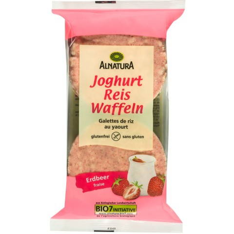 Alnatura Bio Joghurt Reis Waffeln Erdbeer 100 g