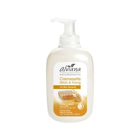 Alviana Cremeseife Milch & Honig mit Bio-Olivenöl