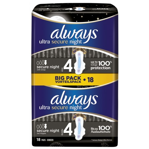 Always Binden Ultra Secure Night BIG PACK Vorteilspack