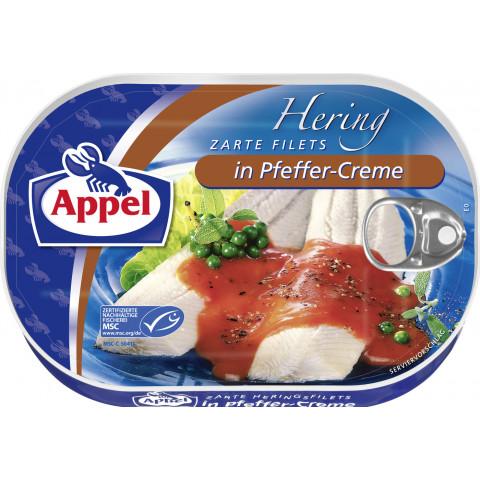 Appel zarte Heringsfilets in Pfeffer-Creme 200 g