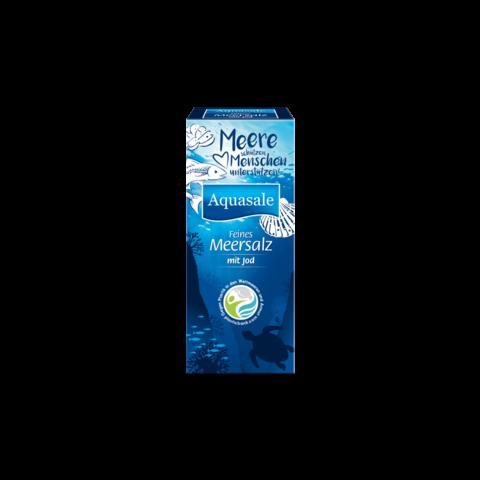 Aquasale Feines Meersalz mit Jod 500G