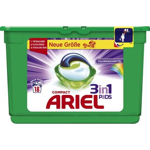 Ariel Compact 3 in 1 Pods Colorwaschmittel 0,538 kg 18 WL