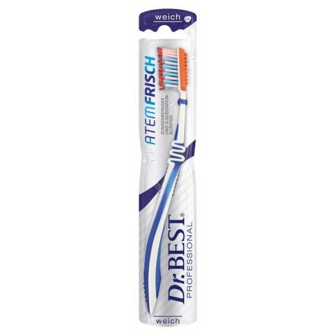 Dr.BEST Zahnbürste Atemfrisch weich verschiedene Farben