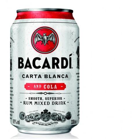 Bacardi Carta Blanca & Cola 0,33 ltr