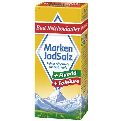 Bad Reichenhaller Markenjodsalz mit Fluorid und Folsäure