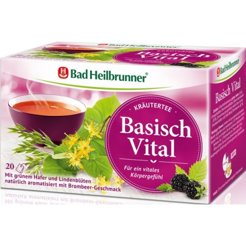 Bad Heilbrunner Basisch Vital Kräutertee 20x 2 g