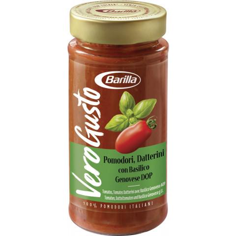 Barilla Vero Gusto Pomodori, Datterini con Basilico Genovese DOP  300G