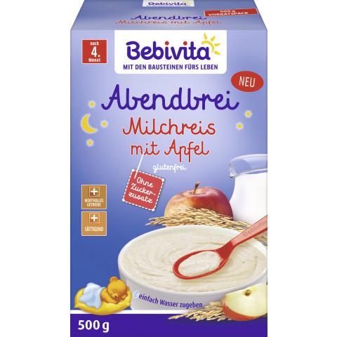 Bebivita Abendbrei Milchreis mit Apfel nach 4.Monat 500G