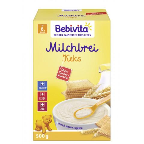 Bebivita Milchbrei Keks ohne Zuckerzusatz ab 6.Monat 500G