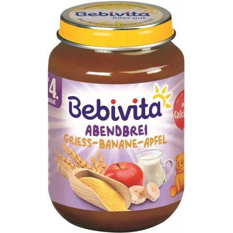 Bebivita Abendbrei - Grieß-Banane-Apfel ab 4. Monat