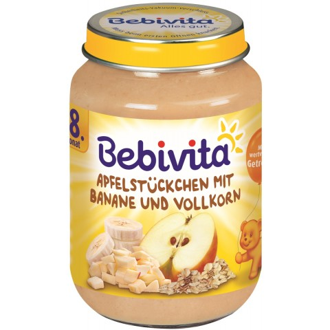 Bebivita Apfelstückchen mit Banane ab 8. Monat